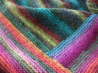 knit log cabin blanket noro kureyon