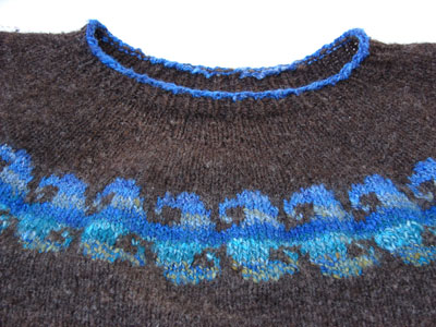 handspun wave sweater
