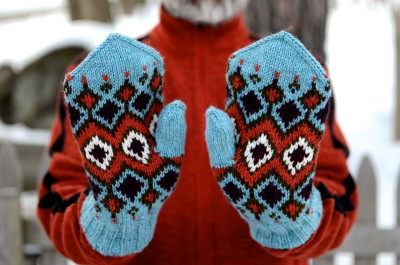 Blue Hickory Mittens