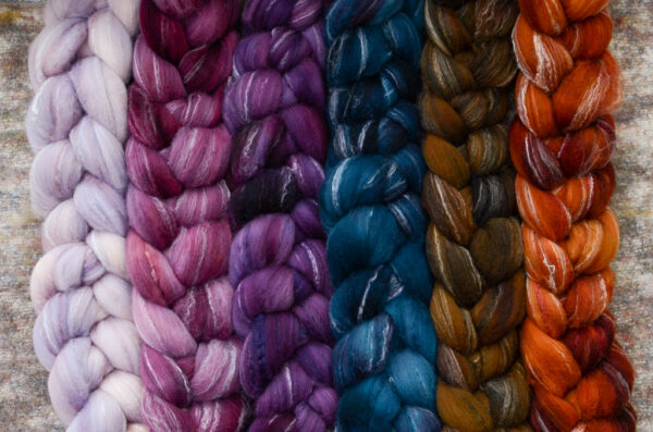 semi-solid braided wool in 6 colors